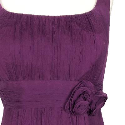 shirring sleeveless dress purple